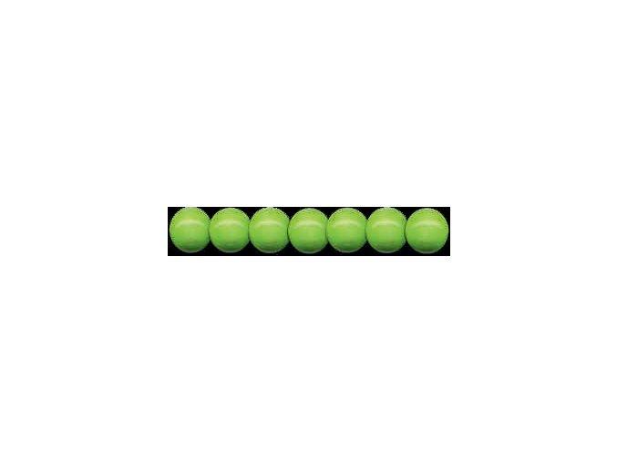 Dřevěné korálky lakované 12mm, 35ks - zelená světlá