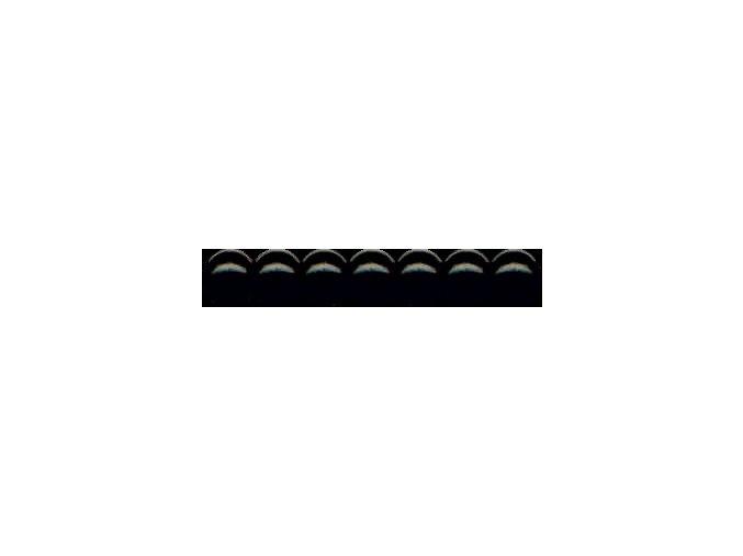 Dřevěné korálky lakované 12mm, 35ks - černé