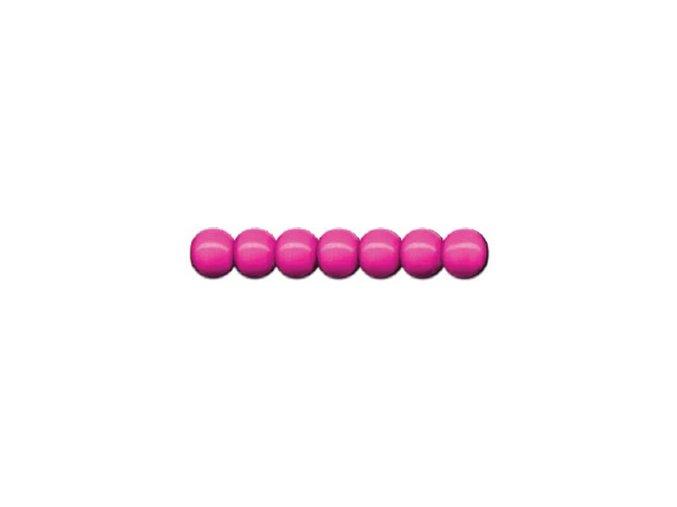 Dřevěné korálky lakované 10mm, 56ks - růžové