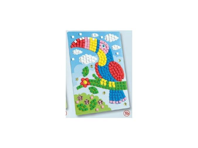 Mozaika z mechové gumy 405 dílů - papoušek