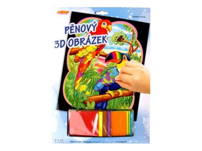 3D mozaikový obrázek pěnový obrázek - Kakadu