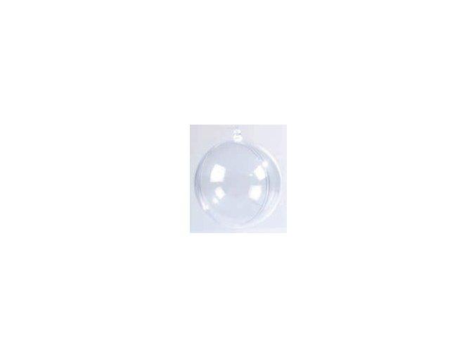 Plastové ozdoby 2dílné - koule 8cm