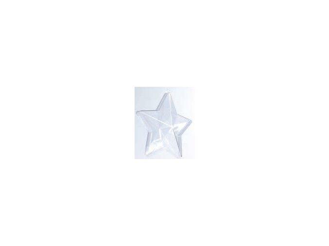 Plastové ozdoby 2dílné - hvězda 8cm