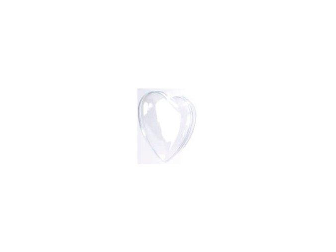Plastové ozdoby 2dílné - srdce 6,5 cm