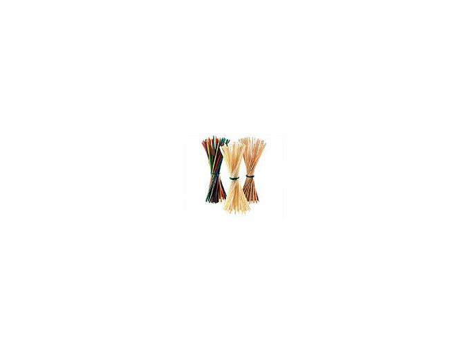 Plyšový drát 8 mm x 50 cm - oranžová