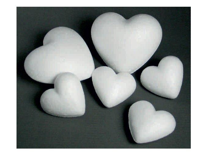 Polystyrenové srdce - 5cm