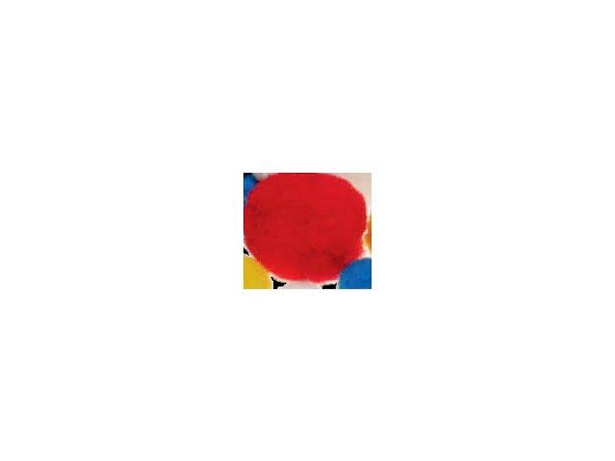 Pompons - 10mm - červená