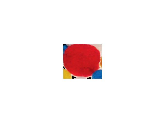 Pompons - 20mm - červená