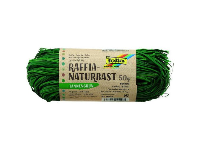 Přírodní lýko 50g - zelené tmavé