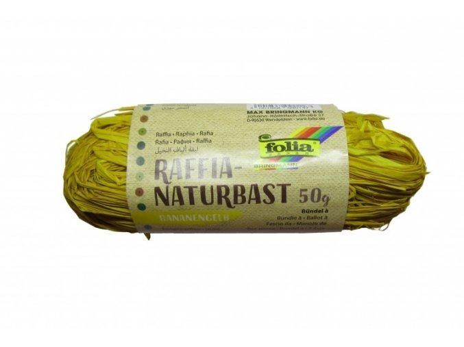 Přírodní lýko 50g - banánově žluté
