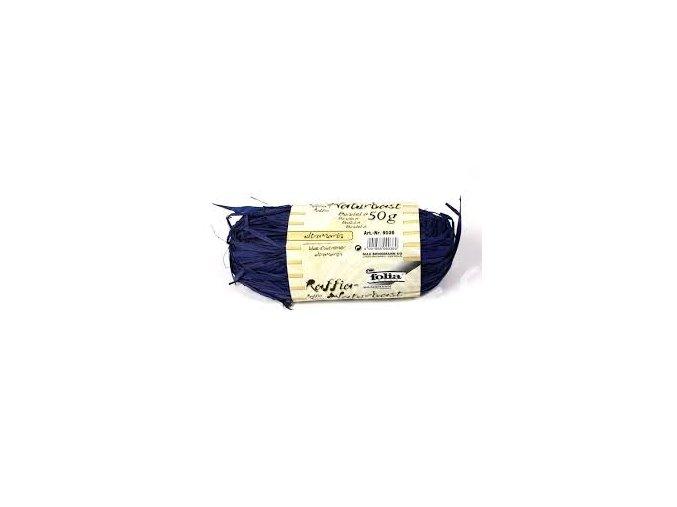 Přírodní lýko 50g - modré ultramarin
