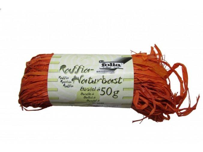 Přírodní lýko 50g - oranžové