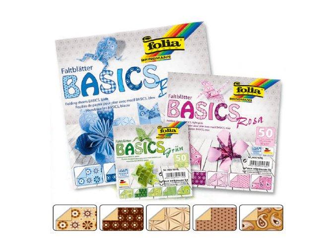 Origami papír BASICS 80g - 10x10cm - BRAUN
