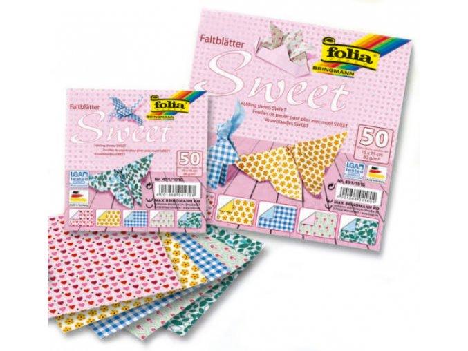 Origami papír SWEET 80g - 10x10cm