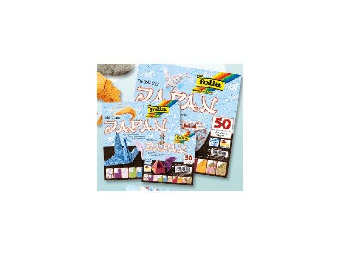 Origami papír JAPAN 80g - 50 listů 10x10cm