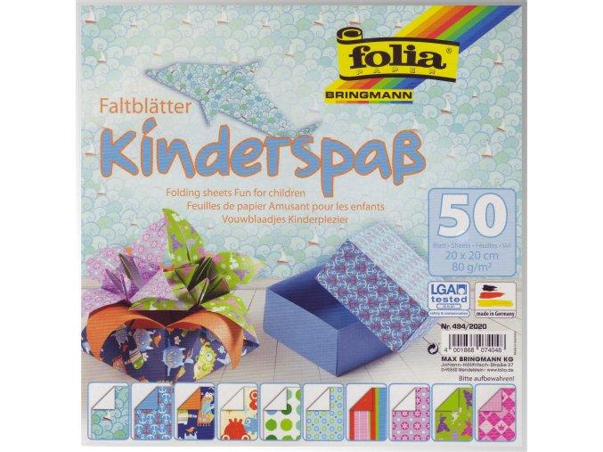 Origami papír Kinderspas 50ks, 80g - 20x20cm