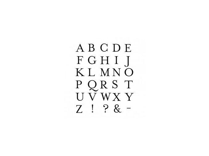 Dřevěná razítka sada abeceda + razítkovací polštářek 7038.20.00
