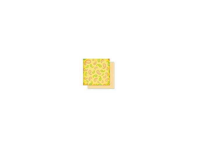 Scrapbooking papír Květinový 30 x 30cm/190g - Motiv 02