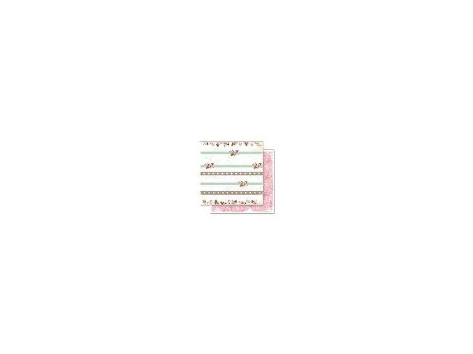 Scrapbooking papír Květinový 30 x 30cm/190g - Motiv 08