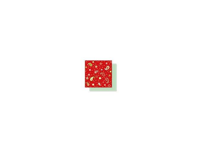 Scrapbooking papír Vánoční 30 x 30cm/190g - Motiv 02