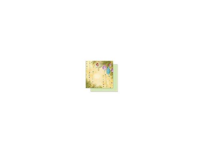 Scrapbooking papír Vánoční 30 x 30cm/190g - Motiv 05