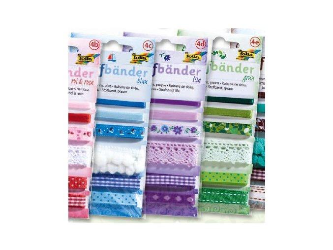 Textilní pásky sada 5,5m - fialová