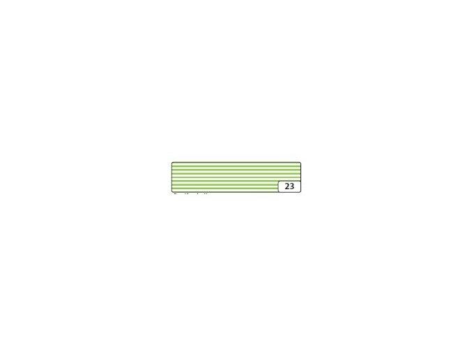 Washi lepící páska 10m x 15mm - zelený_proužek