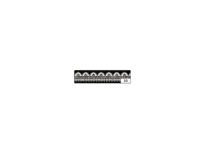 Washi lepící páska 10m x 15mm - bordůra černá