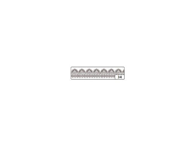 Washi lepící páska 10m x 15mm - bordůra bílá