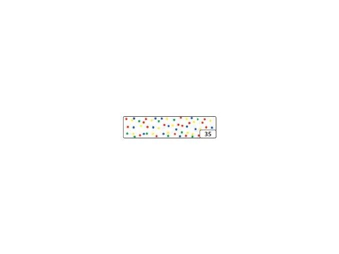 Washi lepící páska 10m x 15mm - konfety