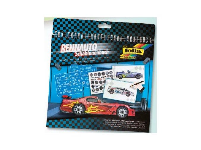 Kniha se šablonami - RACING CAR