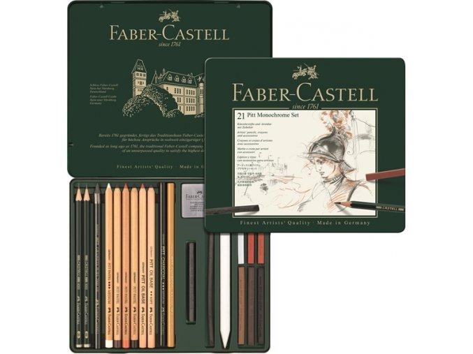 Sada 21 ks PITT Monochrome SET Faber-Castell - 112976