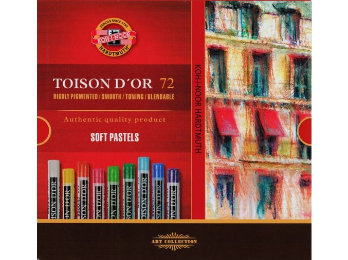 Sada 72 suchých pastelů Koh-i-noor SOFT