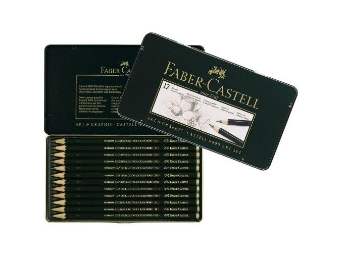 Sada grafitových tužek 12ks 8B - 2H Faber-Castell