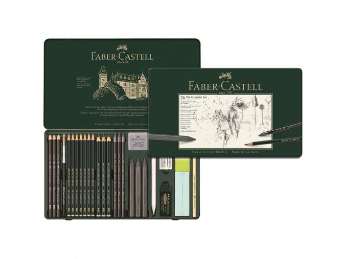 Sada 26 ks PITT Graphite SET Faber-Castell - 112974