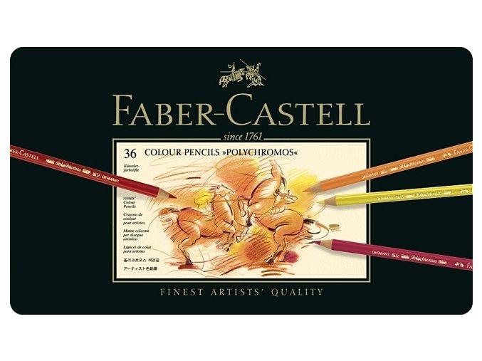 Sada 36 uměleckých pastelek Polychromos Faber-Castell