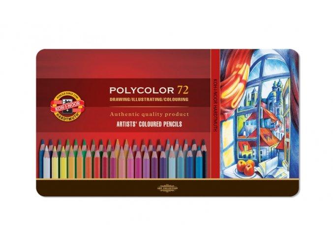 Sada 72 uměleckých pastelek Polycolor Koh-i-noor