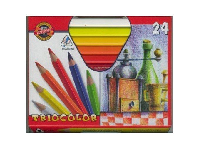 Sada 24 uměleckých pastelek Triocolor Koh-i-noor