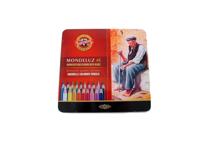 Sada 48 uměleckých akvarelových pastelek Mondeluz Koh-i-noor