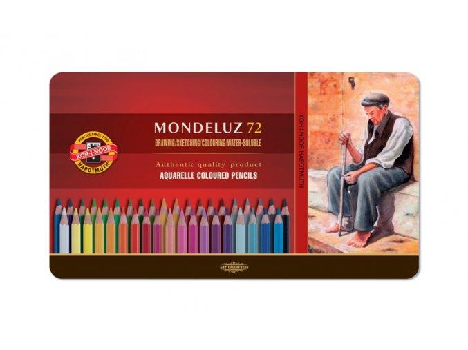 Sada 72 uměleckých akvarelových pastelek Mondeluz Koh-i-noor