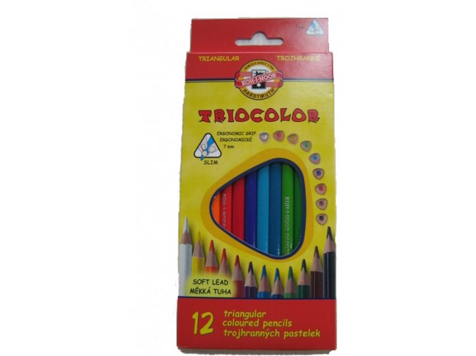 Sada 12 školních pastelek TRIOCOLOR Koh-i-noor