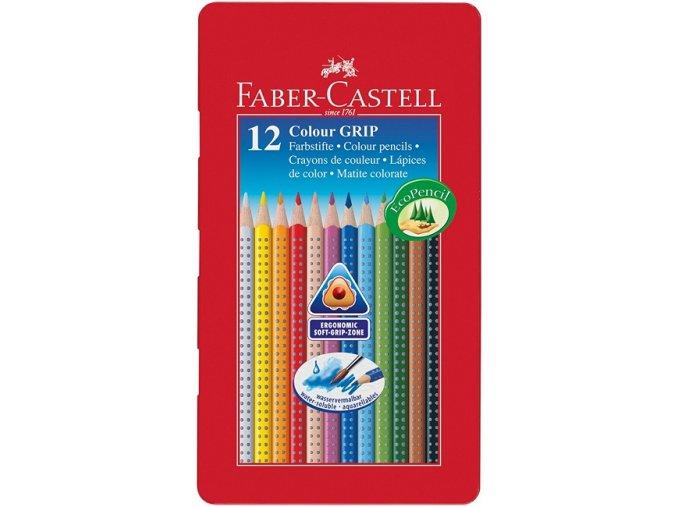 Sada 12 školních akvarelových pastelek GRIP - Faber-Castell