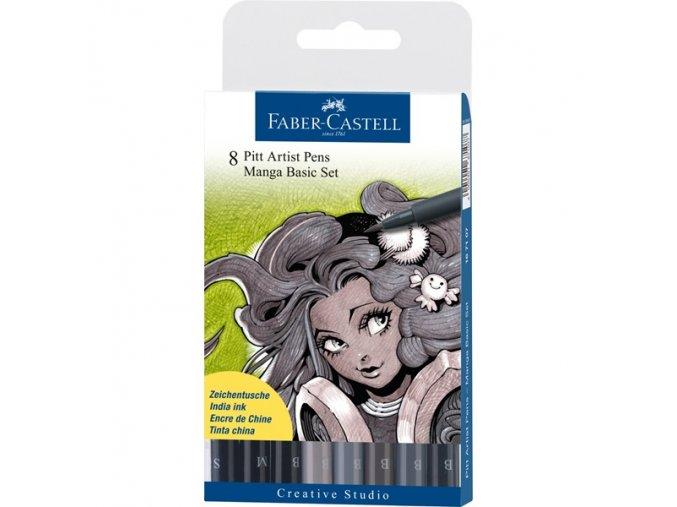 Sada tušových popisovačů Faber-Castell MANGA - Basic 167107