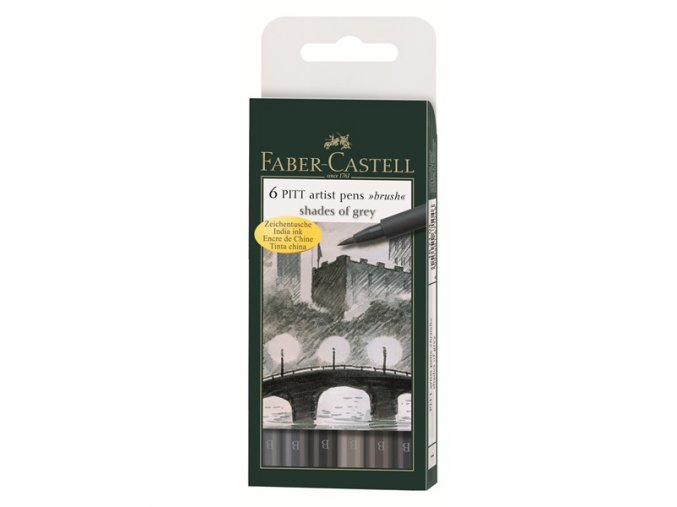 Sada tušových popisovačů Faber-Castell - Šedé