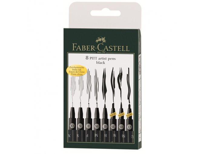 Sada tušových popisovačů Faber-Castell - Černé PITT ARTIST PEN 167137