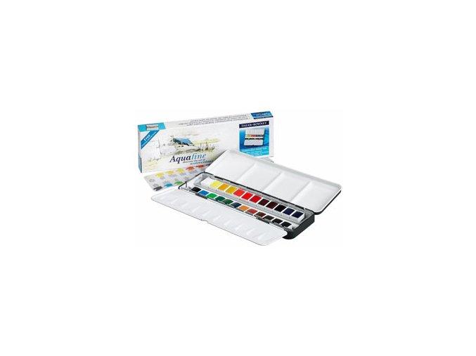 Akvarelové barvy Daler-Rowney Aquafine sada plech - 24 barev