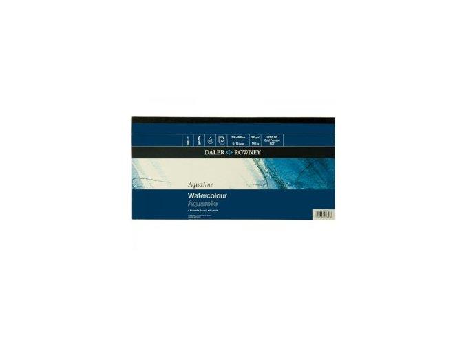 Blok akvarelový 300g Aquafine Daler-Rowney - 200x400 mm, 12 listů