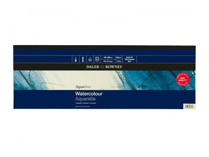 Blok akvarelový 300g Aquafine Daler-Rowney - 240x680 mm, 12 listů