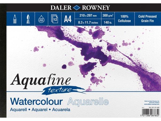 Blok akvarelový 300g Aquafine texture Daler-Rowney - 12 listů A4
