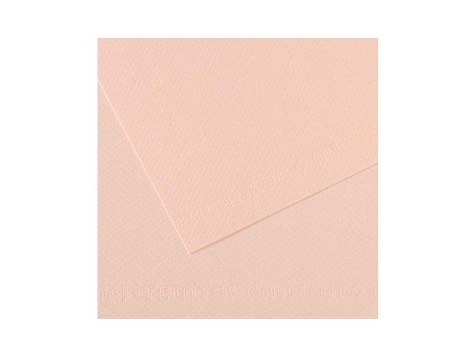 Pastelový papír 160g - č.103  Pastelově růžová